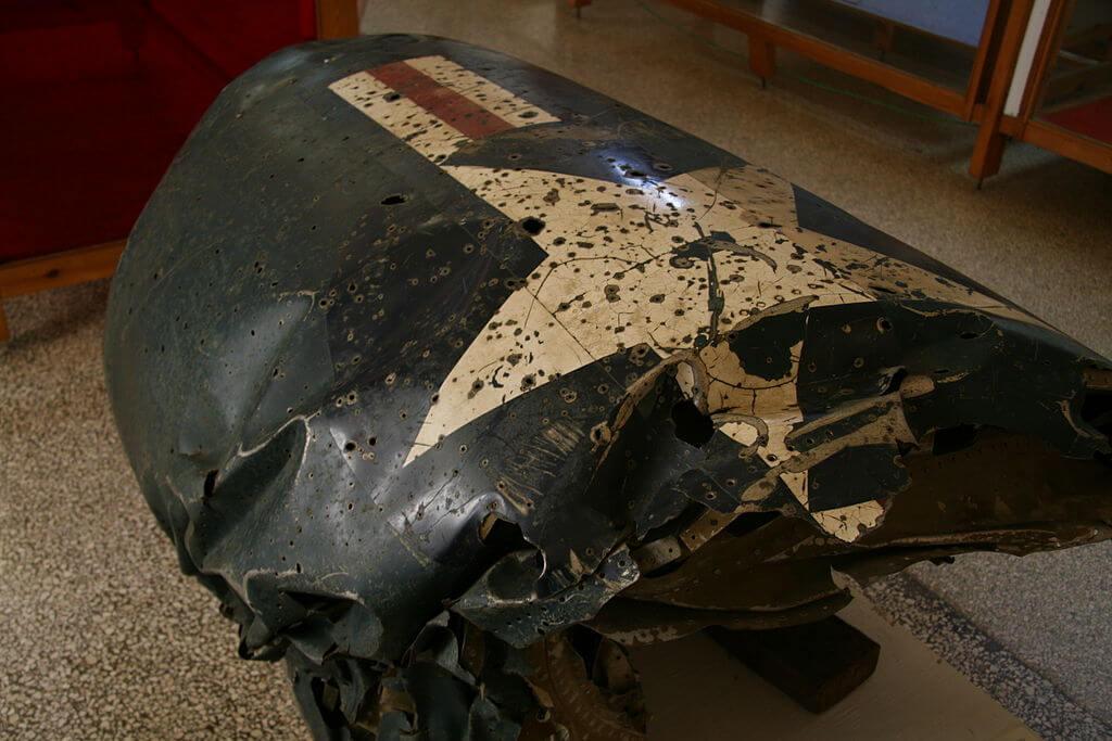 Restos de un avión derribado en la crisis delos misiles