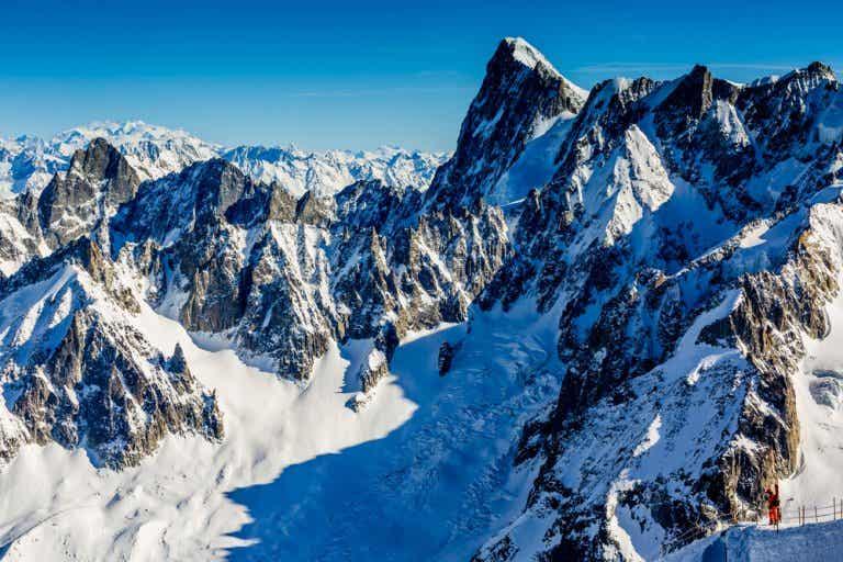 El Mont Blanc, el punto más alto de la Unión Europea