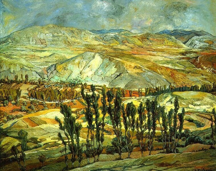 'Paisaje de Calatayud' de Ignacio Zuloaga
