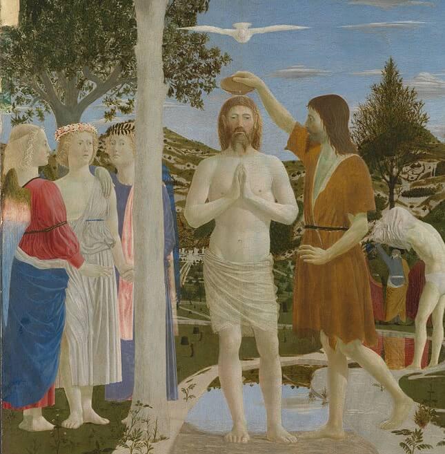 'El bautismo de Cristo' de Piero della Francesca