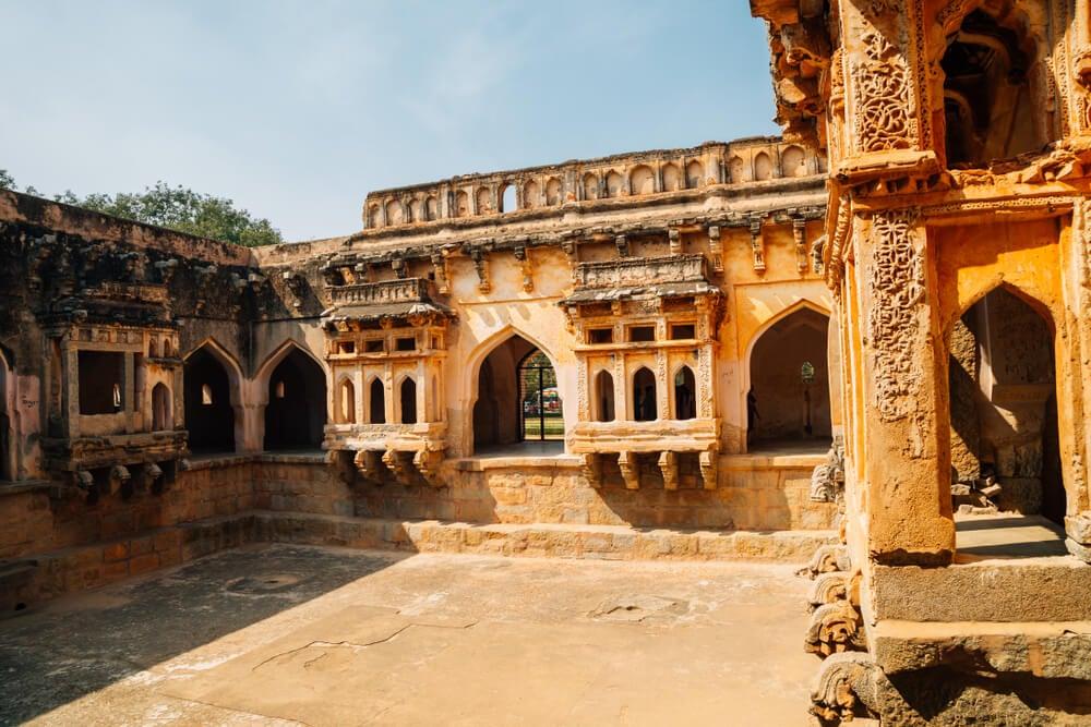 Ruinas de la ciudad de Hampi, capital del Imperio vijayanagara
