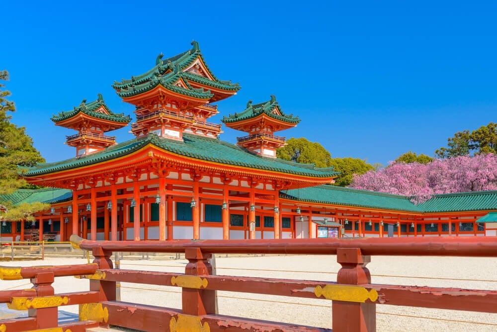 Santuario Heian uno de los anturarios sintoístas de Kioto