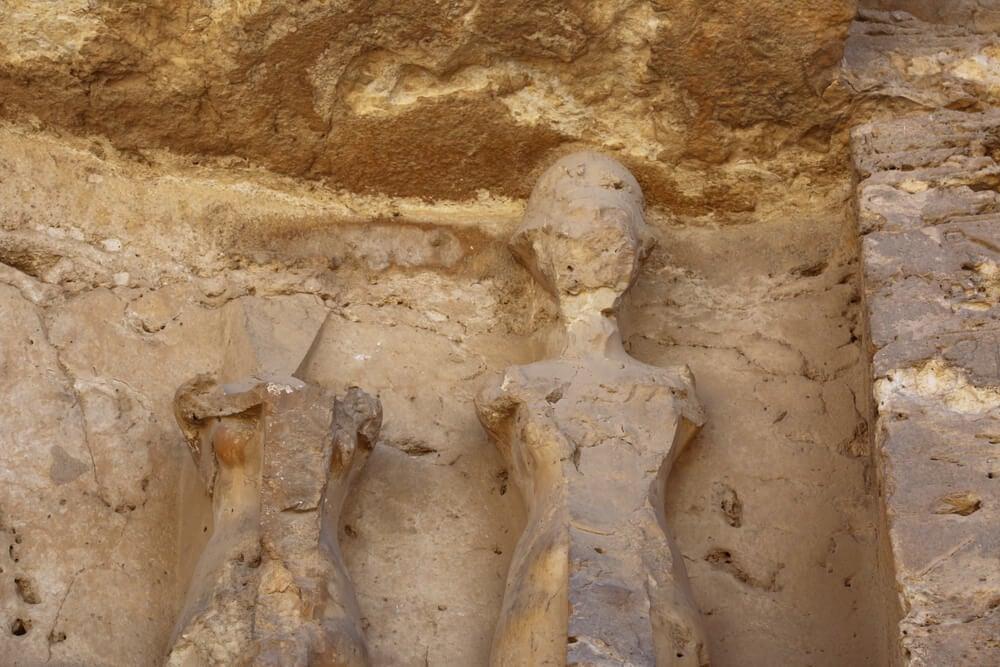 Detalle de la tumba de los faraones