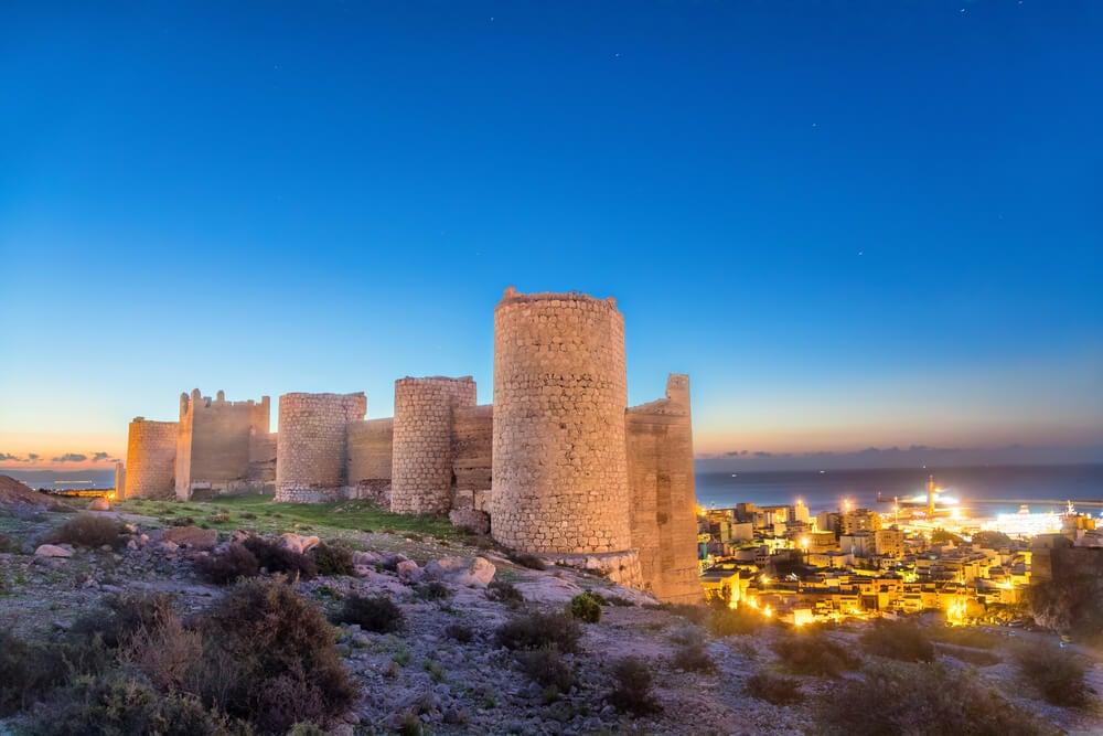 Muralla medieval de la alcazaba de Almería