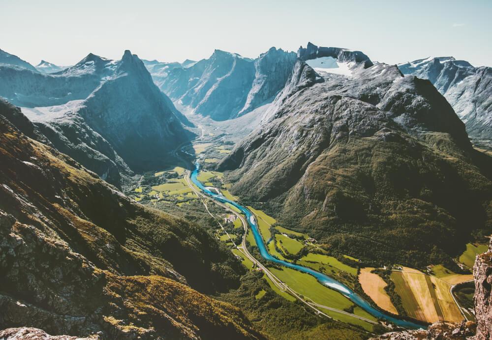 Alpes escandinavos, uno de los sistemas montañosos de Europa