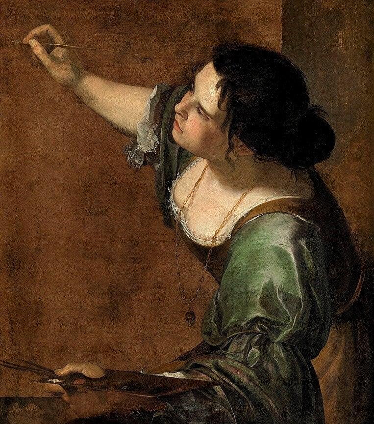 Autorretrato de Artemisia Gentileschi, una de las mujeres artistas del Prado