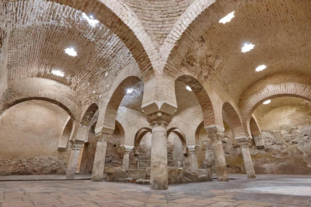 Baños árabes del Palacio de Villardompardo de Jaén