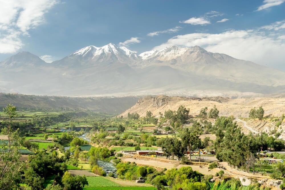 Campos de la campiña de Arequipa