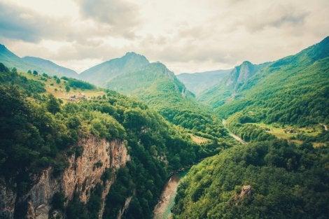 Cañón de Tara en los Balcanes