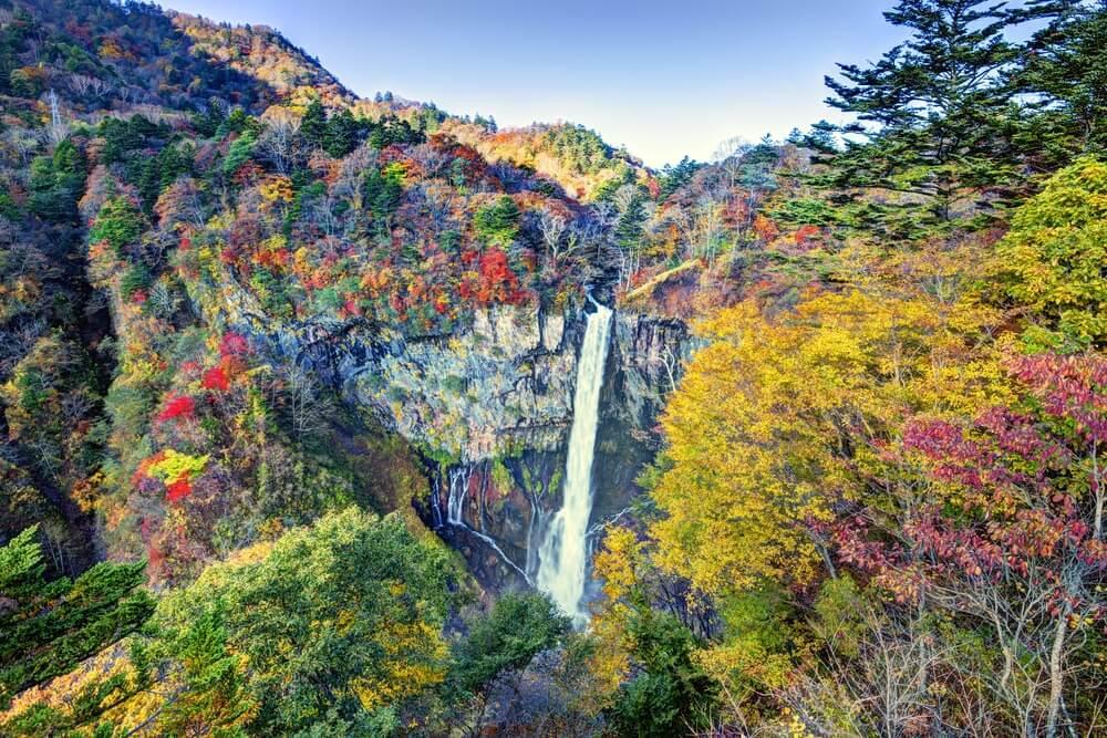 Cascada Kegone n el Parque Nacional Nikko