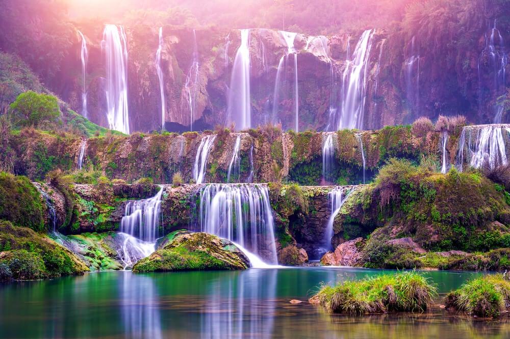 Cascadas dejiulong, uno de los espacios naturales de China más bonitos