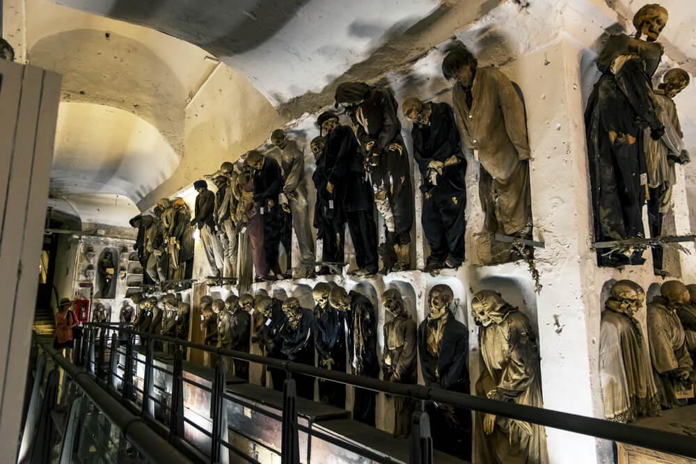 Momias en el convento de los Capuchinos en Palermo
