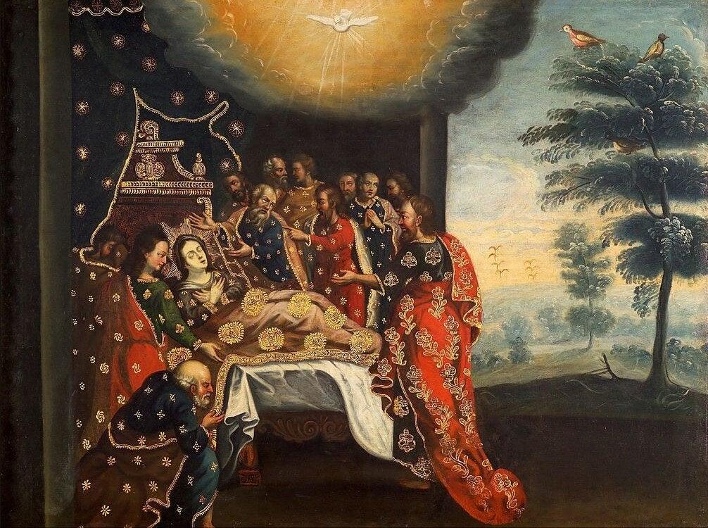 'Dormición de la Virgen' de la escuela cusqueña