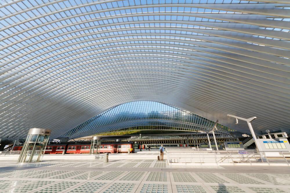 Estación de tren de Lieja, la más moderna de la red ferroviaria de Bélgica