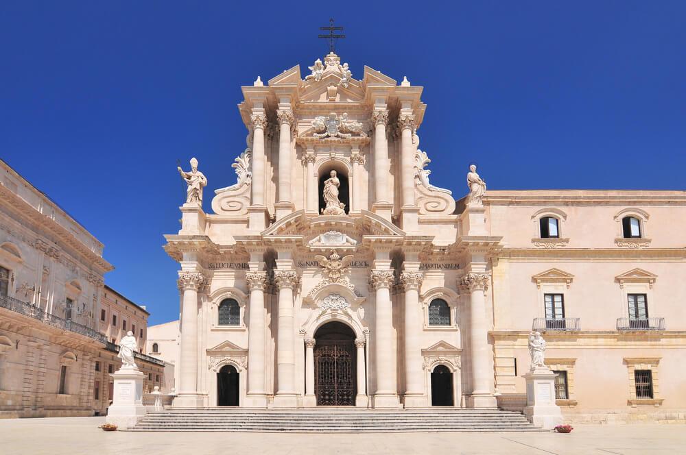 Fachada de la catedral de Siracusa