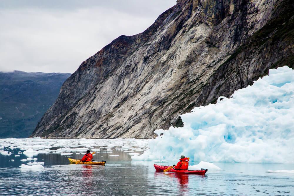 Excursión en kayak por el fiordo Nuuk