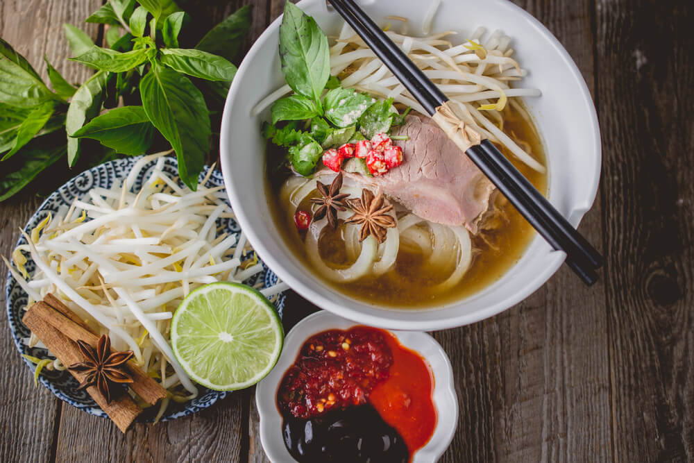 Pho, típico de la gastronomía vietnamita