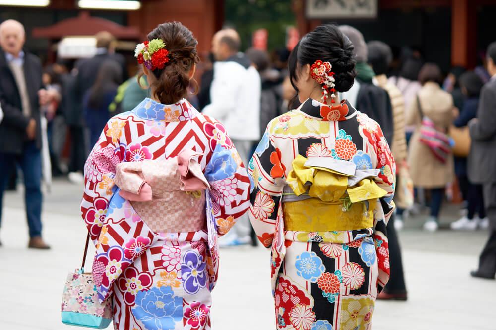 Mujeres vistiendo el kimono