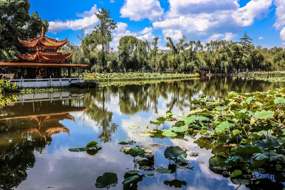 Lago Verde en Kunming