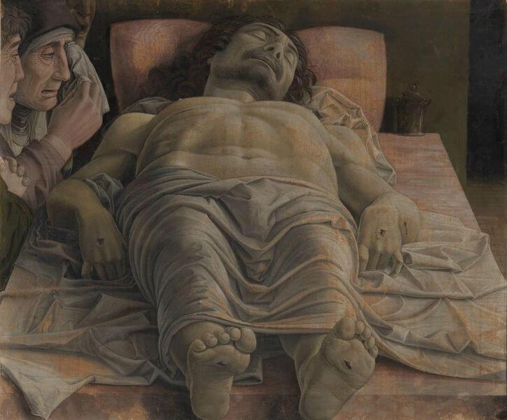 'Lamentación sobre Cristo muerto' de Andrea Mantegna