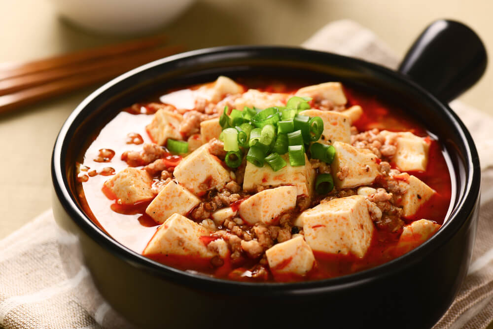 Olla de mapo tofu