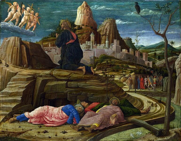 'Oración en el Huerto de los Oilvos' de Andrea Mantegna