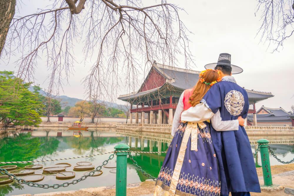 PAreja en Corea, muestra de los valores familiares