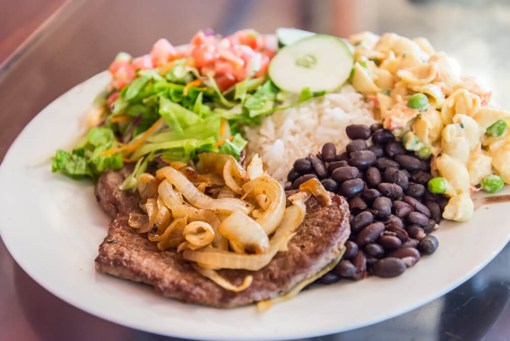 Plato de casado, comida costarricense típica