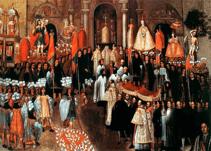 'Procesión del Corpus', de Basilio de Santa Cruz Pumacallao