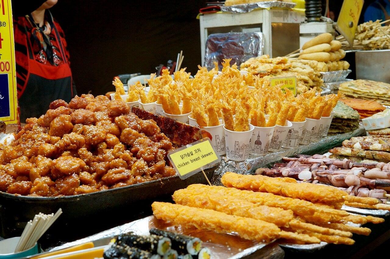 Puesto de comida callejera