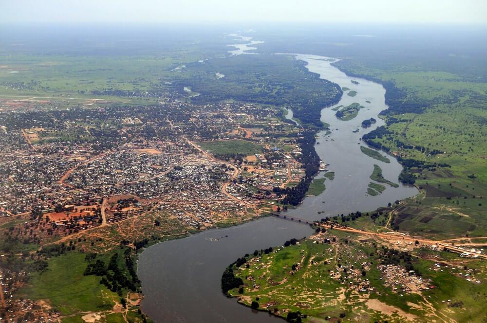 Río Nilo en Sudán del Sur