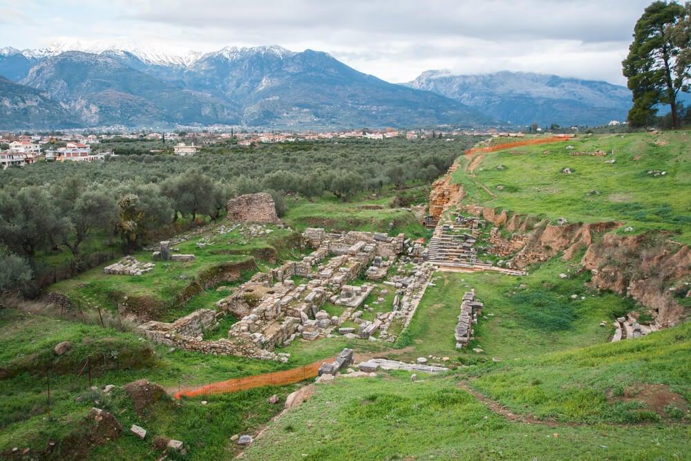 Ruinas de Esparta, una de las ciudades más antiguas de Grecia