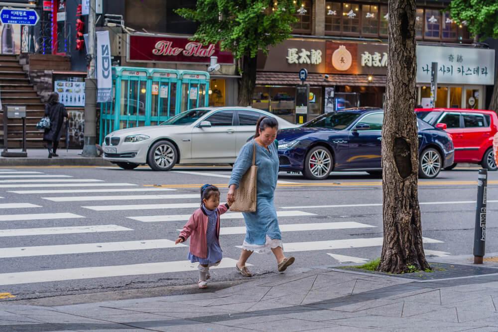 Familia en Seúl
