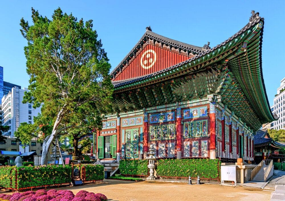 Templo Jogyesa en Seúl