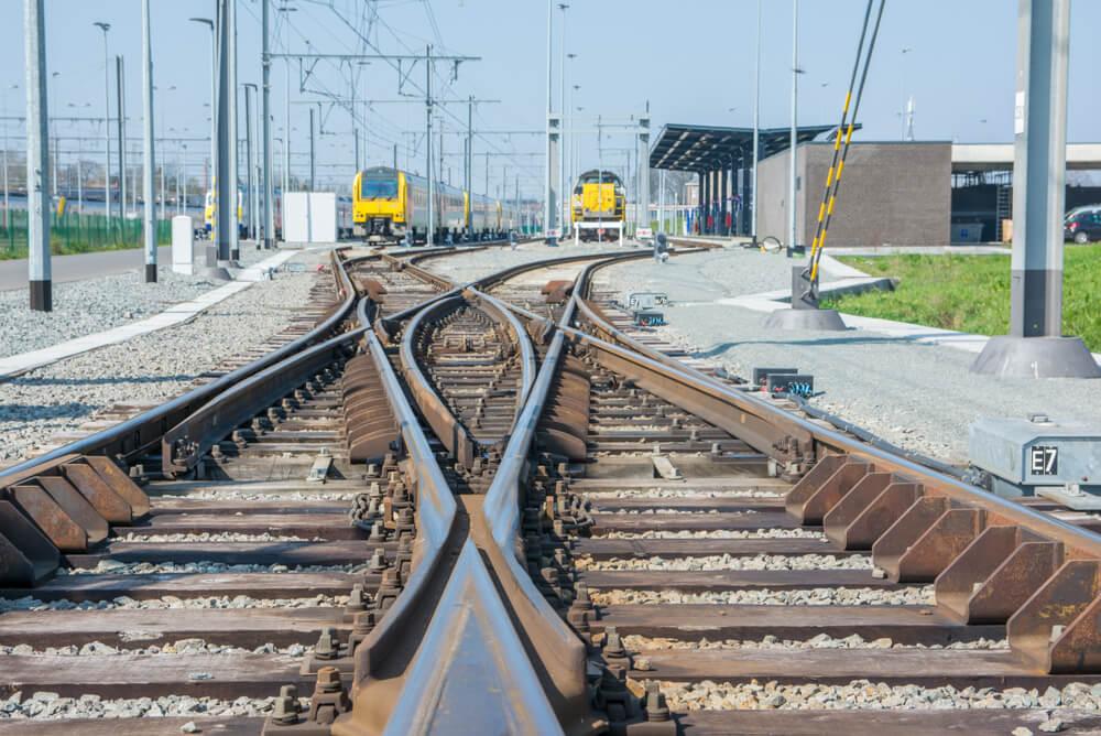Vías del tren en Bélgica