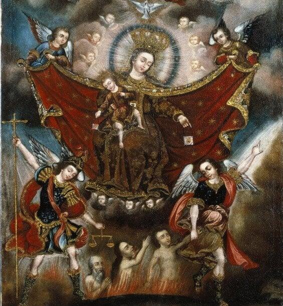 Virgen del Carmen salvando a las almas del purgatorio