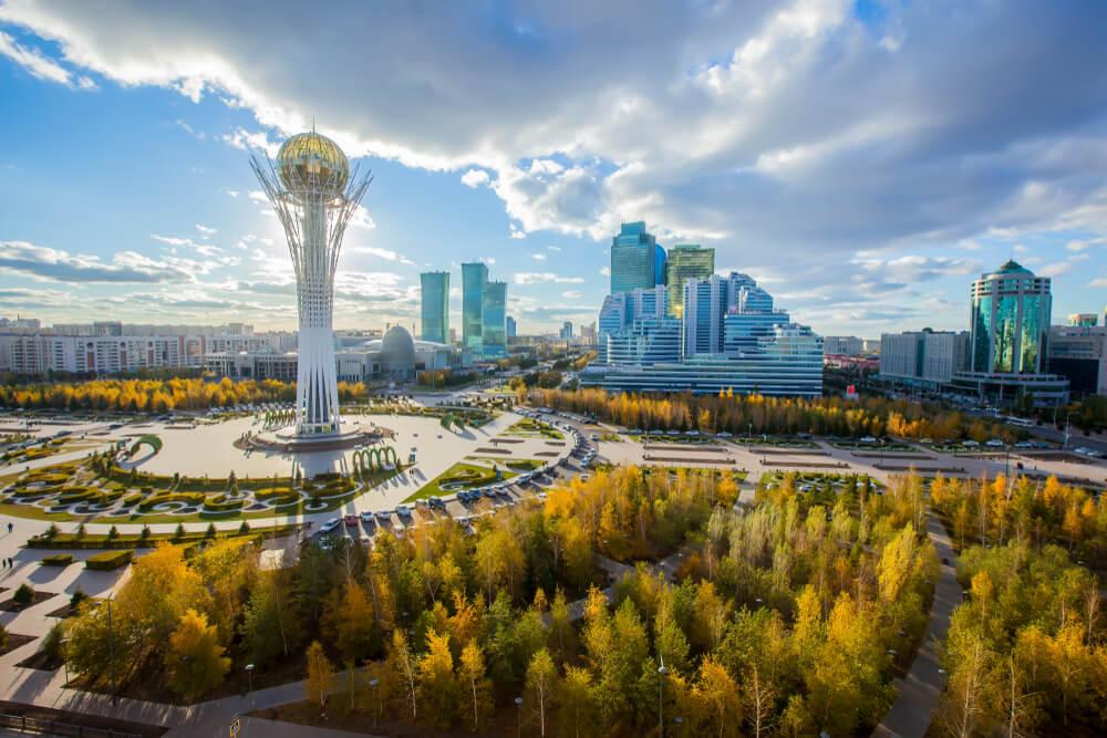 Vista de Astaná, uno de los tesoros de Kazajistán