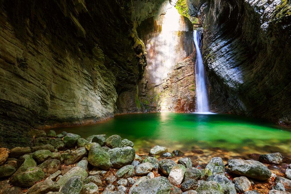 Cascada de Kozjak en Eslovenia