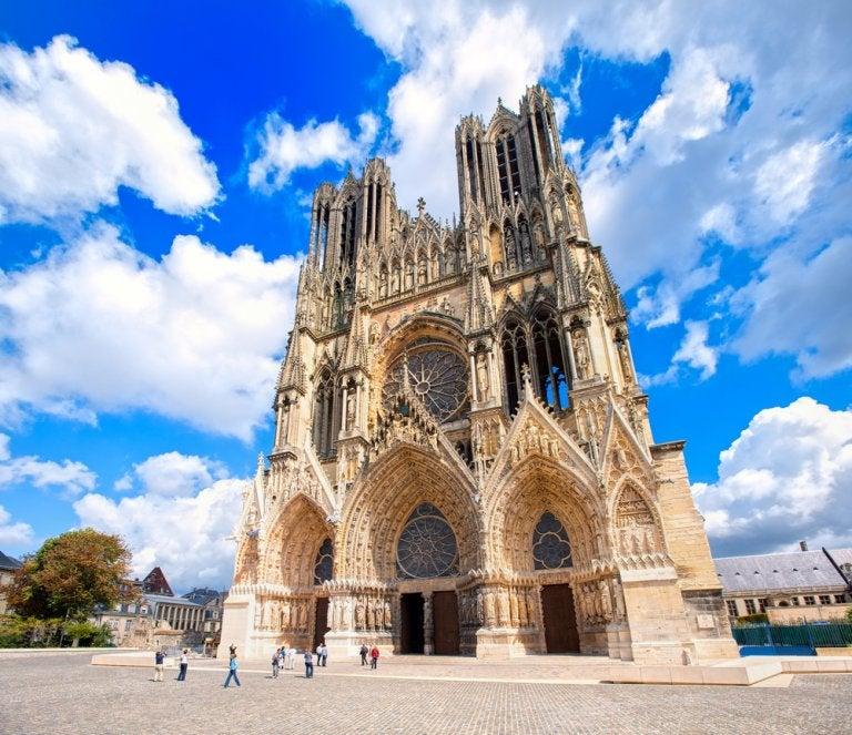 La catedral de Reims, una de las joyas góticas en Francia