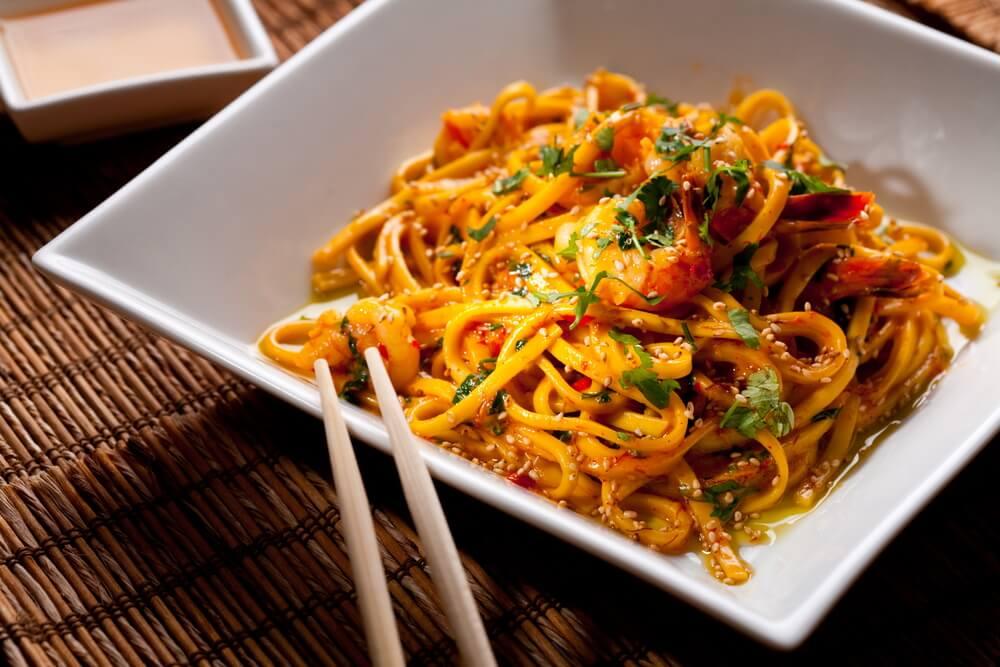 Fideos de arroz, plato de la gastronomía china