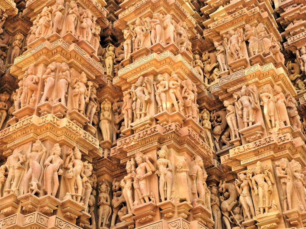 Friso en uno de los templos