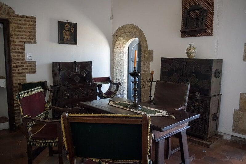 Inerior del palacio virreinal de Diego Colón