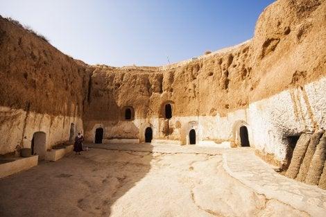 Poblado de MAtmata, uno de los escenarios de Star Wars