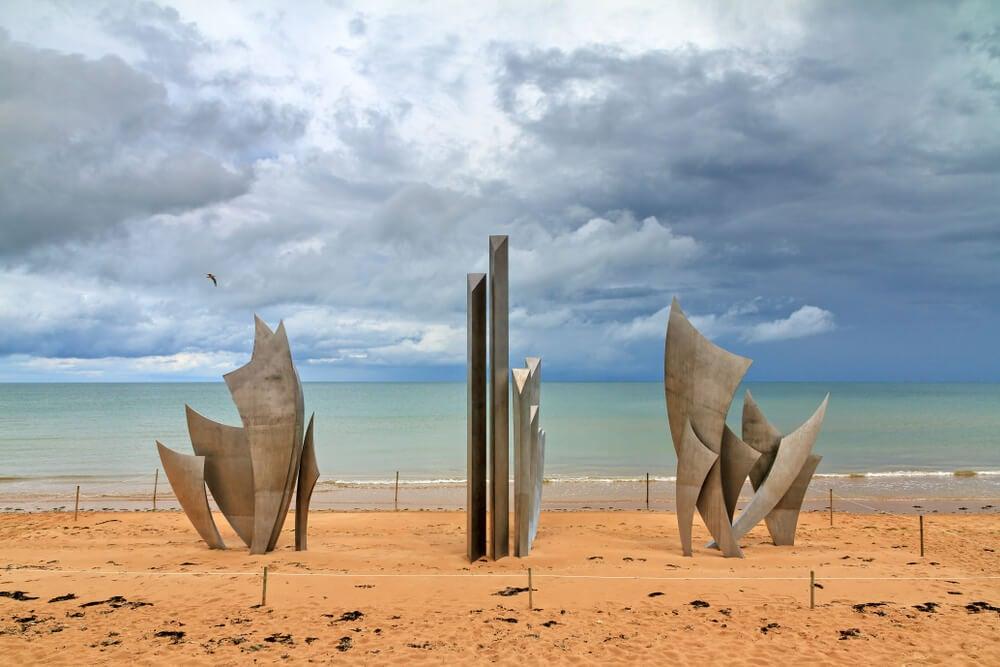 Monumento a la memoria en Normandía