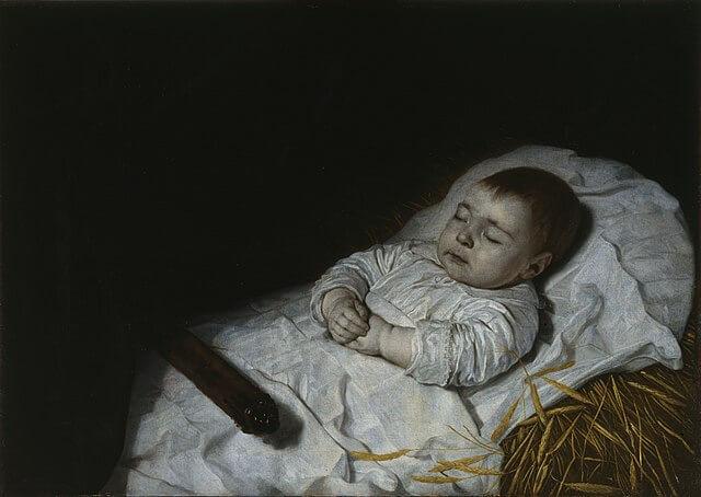 Niño en su lecho de muerte de Bartholomeus van der Helst