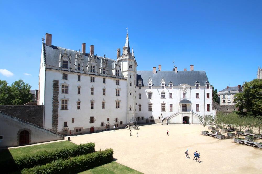 Patio del castillo de Nantes