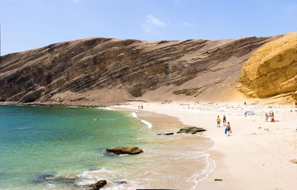 Vista de la playa La Mina