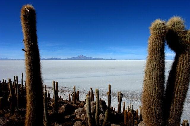 Vista del salar de Uyuni