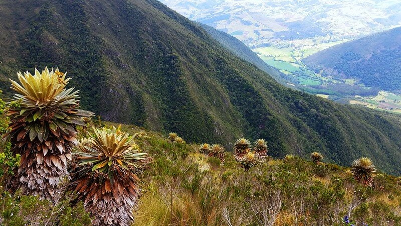 Vista del Santuario de Iguaque