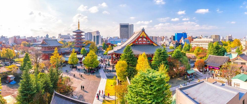 Vista del barrio de Asakusa